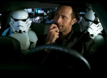 The Rock's Cab Is A Magnet For Stormtroopers And Aliens