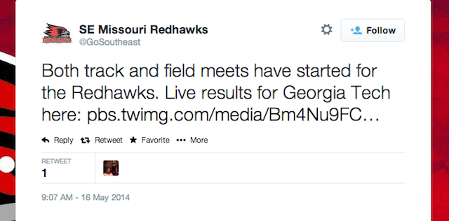 SE Missouri Redhawks Tweet Weird And NSFW Bathroom Picture
