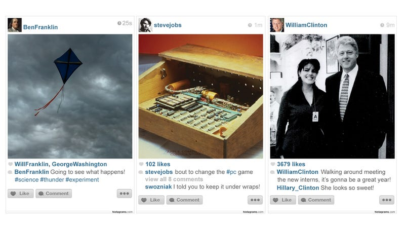 How Historic Moments Would Have Been Shared on Instagram