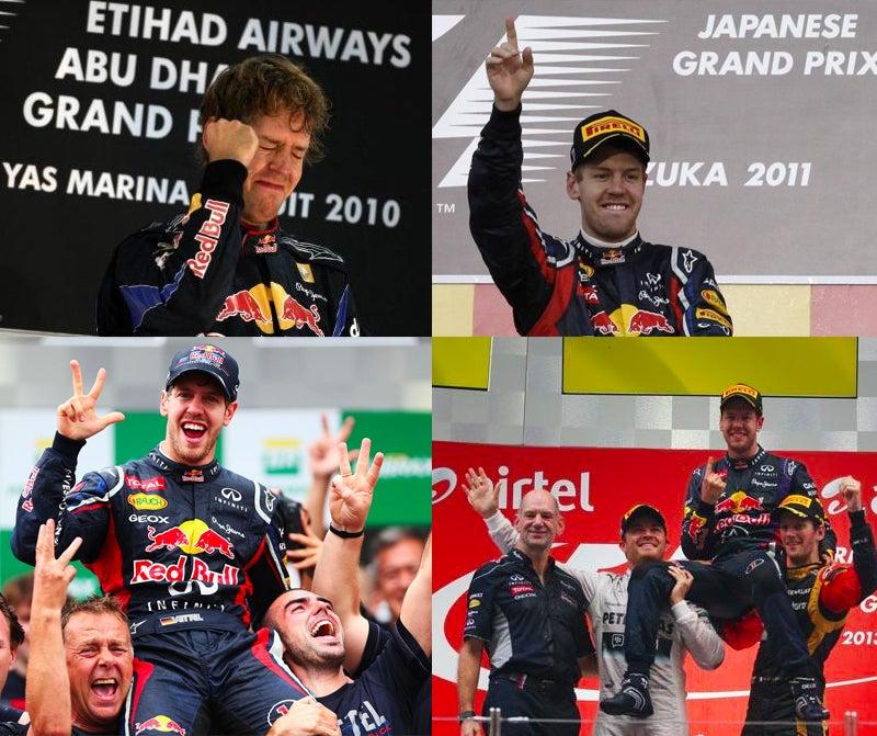 Sebastian Vettel wins 4th Consecutive F1 World Championship