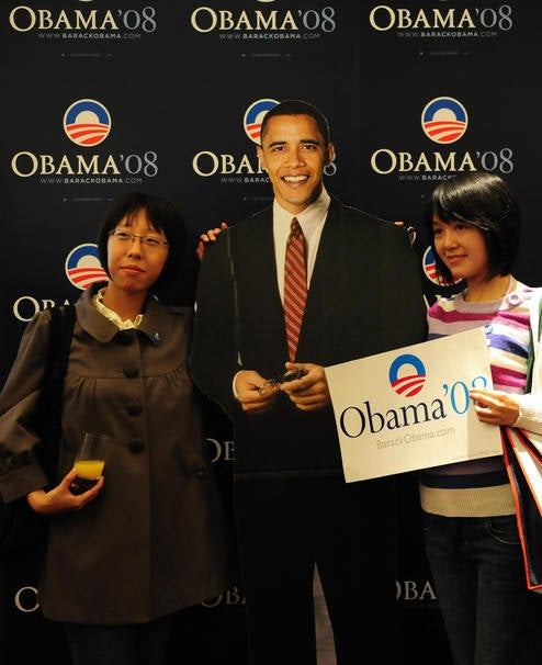 Does the Obama Cutout Have White Hands?