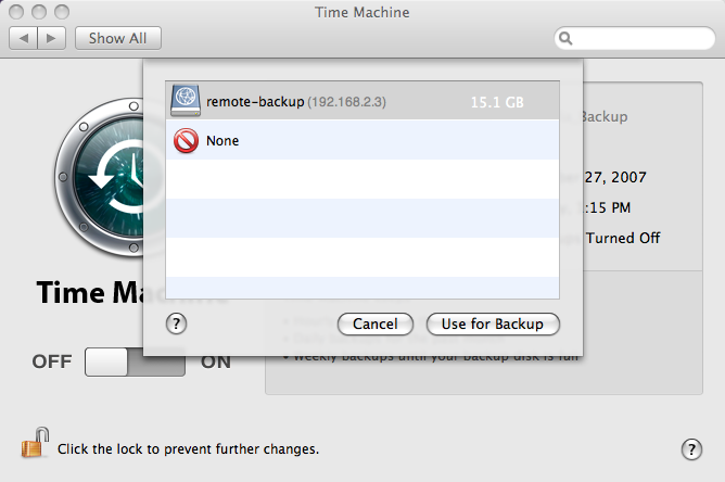 Time Machine Over the Network with iTimeMachine