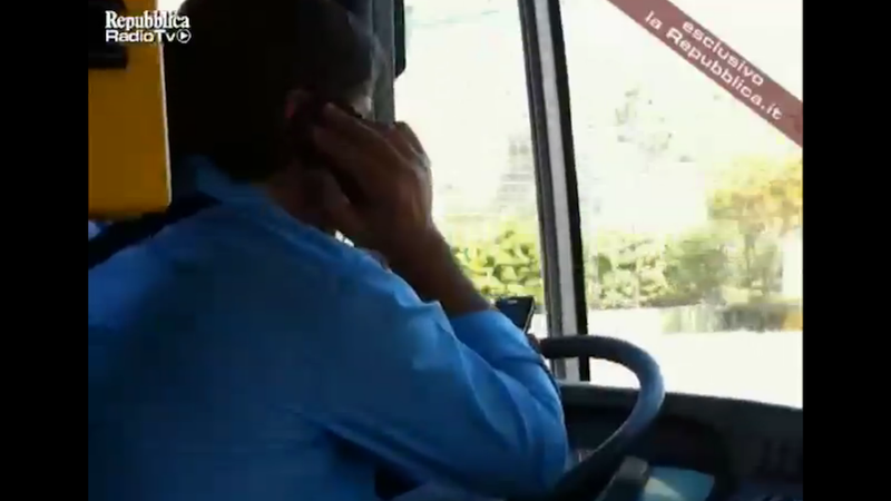 Italian Driver Busted for Steering Bus While Using Two Phones at Once