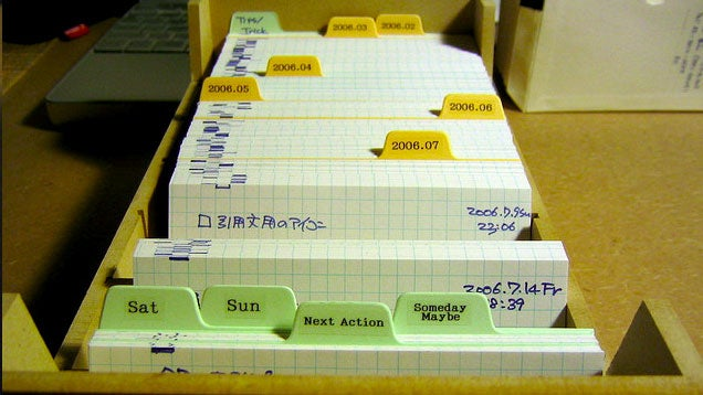 The Pile of Index Cards System Efficiently Organizes Tasks and Notes