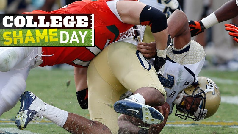College ShameDay: Who Embarrassed Themselves On Saturday (Besides Georgia Tech)?
