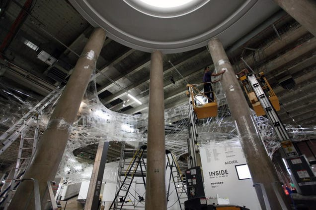 You Can Climb Through This Web Made From 27 Miles of Tape