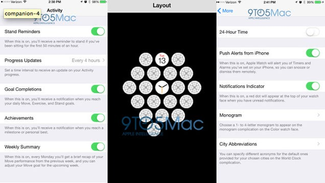 Leaked Companion App Spills Details on the Apple Watch