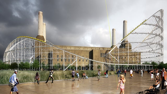 An Abandoned London Power Station Could Find New Life As a Stunning Roller Coaster