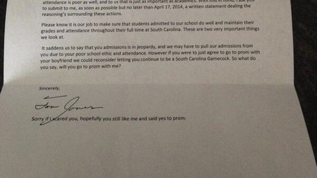 Teen's Awful 'Promposal' Involves a Fake College Rejection Letter