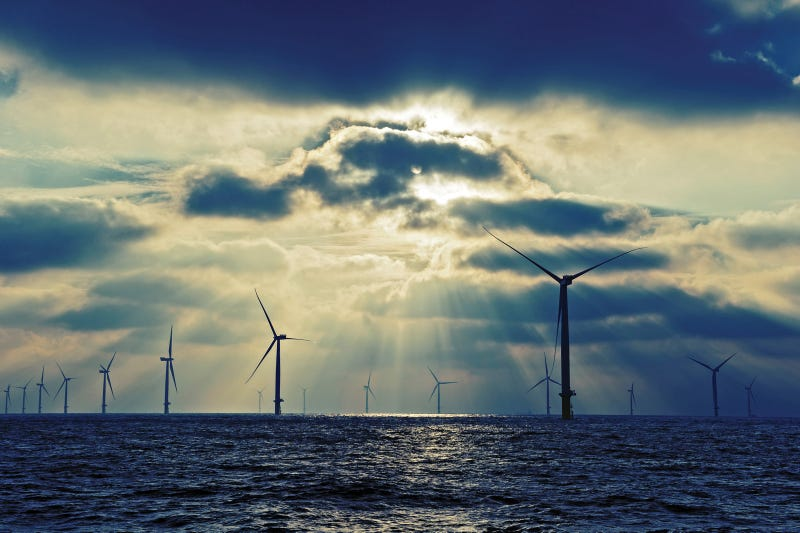 The world's largest offshore wind farm from space