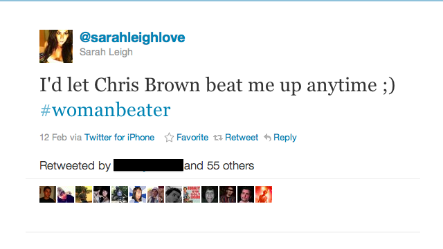 Woman Who Tweeted She'd Let Chris Brown Beat Her Inundated With Assault, Rape Threats