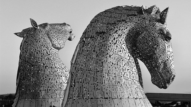 Behold the gigantic 98-foot-high horse heads just completed in Scotland