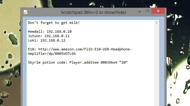 Scratchpad Puts All Your Quick, Temporary Notes One Keystroke Away
