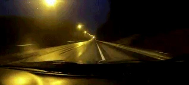 Insane Cop Flyby On Dash Cam Perfectly Drops The Bass