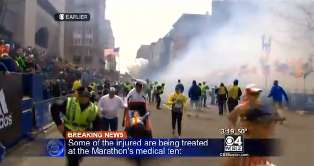 Here's Video Of The Moment The Boston Marathon Bombs Exploded