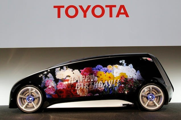 Toyota's Insane Concept Car Has Giant Touch-Screen Doors