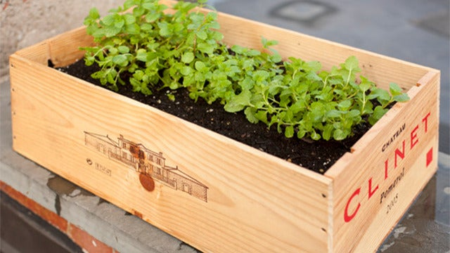 Repurpose a Wooden Wine Crate Into a Planter