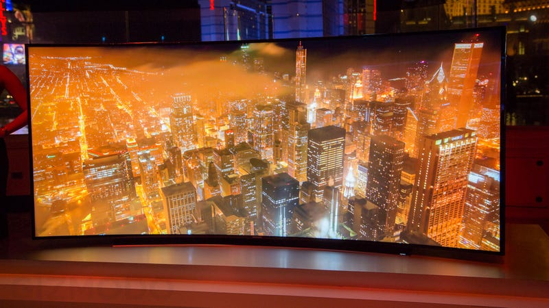 Samsung's Giant Bendable TV Is Just the Right Kind of Crazy