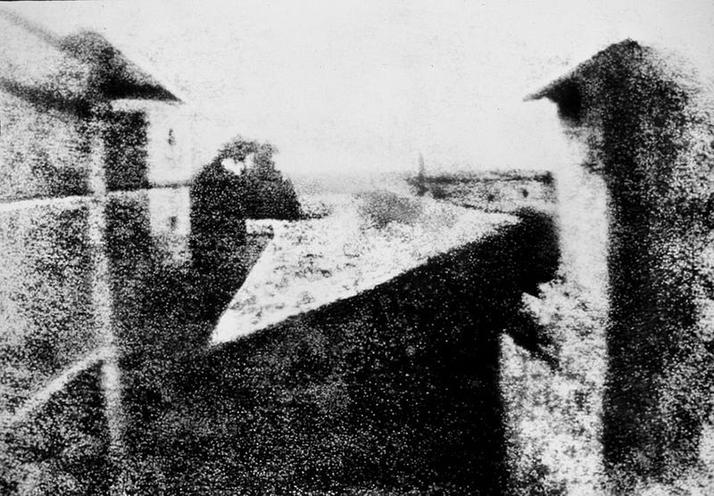 Can you identify the image in the world's oldest photograph?