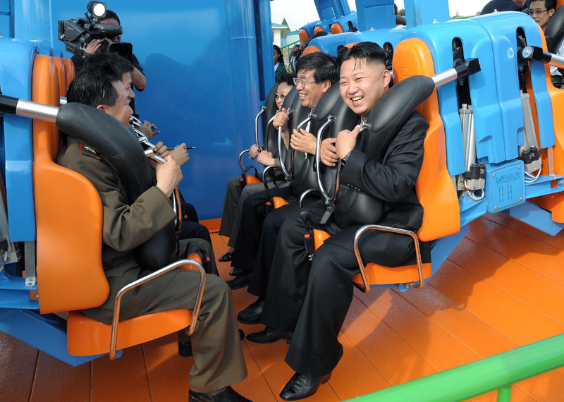 Glorious Leader Kim Jong Un Triumphantly Cavorts in Joyful Dolphinarium