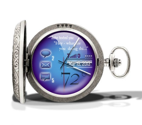 Cobalt Pocketwatch Gadget Concept Revolutionizes Foppery