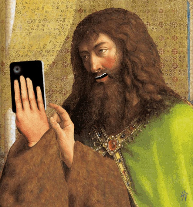 Man Photoshops Technology Into 15th Century Paintings, Hilarity Ensues