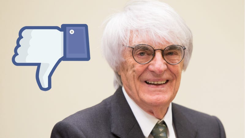 Bernie Ecclestone Doesn't Care About Social Media, Because Greed