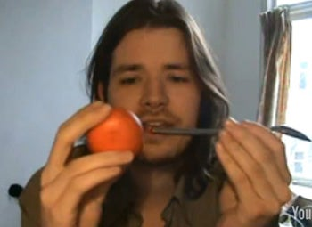 Man Penetrates Fruit To Explain Christian Copulation