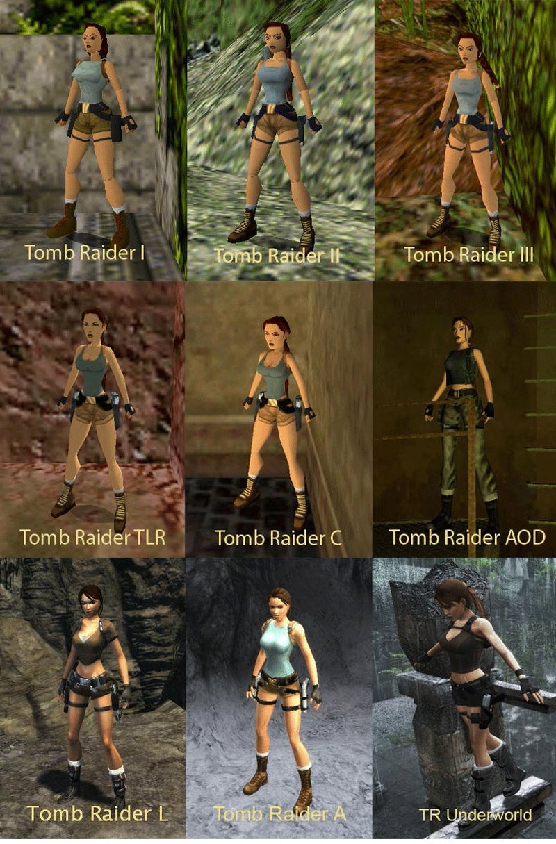 Let's Look At Lara Croft Over The Years