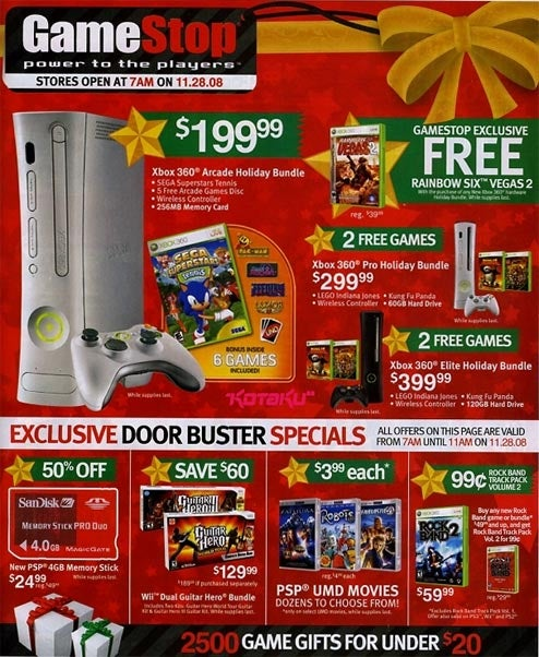 GameStop's Black Friday Ad Leaked