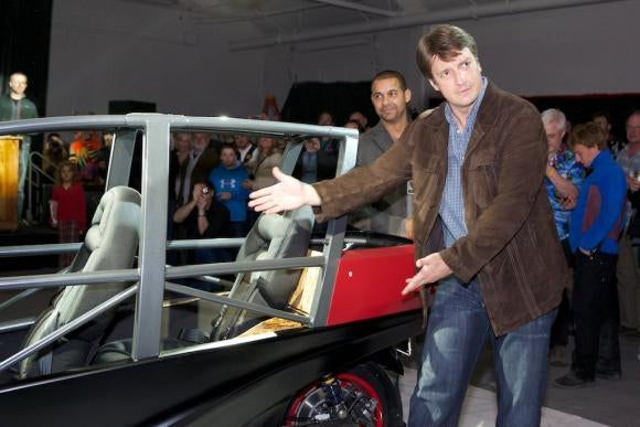 "Nathan Fillion launches a new electric car: ""It looks a little like a spaceship. I'm kind of into spaceships."""