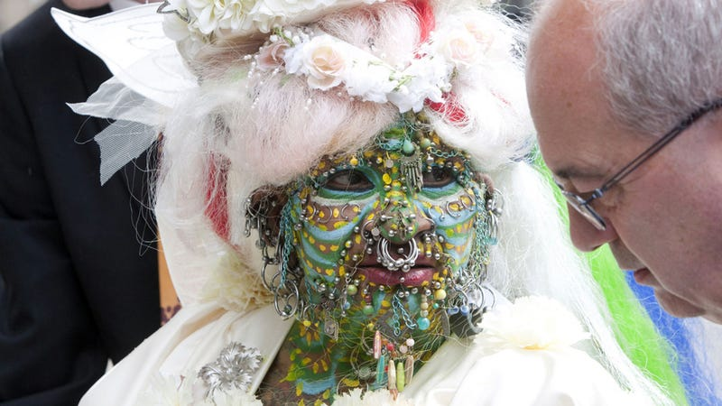 World's Most Pierced Woman Weds In Holey Matrimony