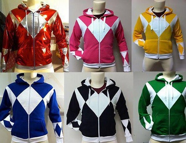 Dress up as your favorite Power Ranger with custom-made hoodies