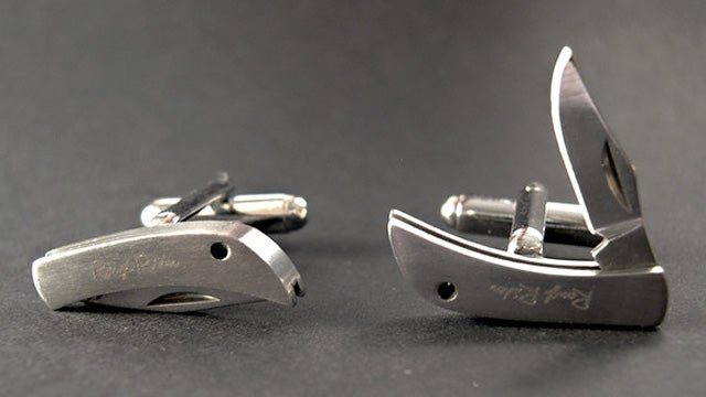 Dress to Kill (Or Just Prick) With a Set of Pocket Knife Cufflinks