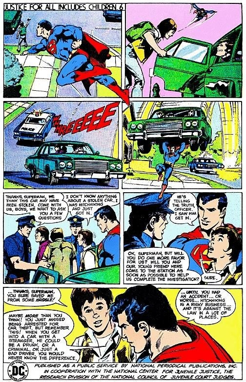 In Old-School Comic PSAs, Superman Torments Mouthy Children