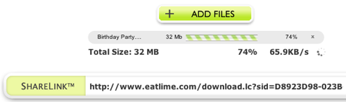 Share Large Files Instantly with EatLime