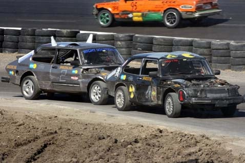 Saabs Gone Wild at the 24 Hours of LeMons!