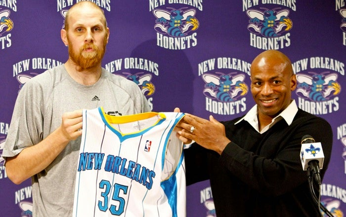 After Five Days In Captivity, A Haggard Chris Kaman Emerges To Assure His Family That He Is Unharmed And The Hornets Are Treating Him Well