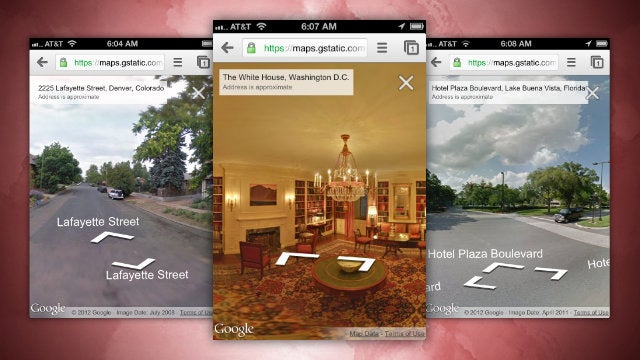 Google Street View Is Now Available on the Google Maps Webapp