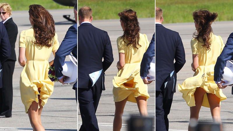 Kate Middleton Suffers Wardrobe Malfunction