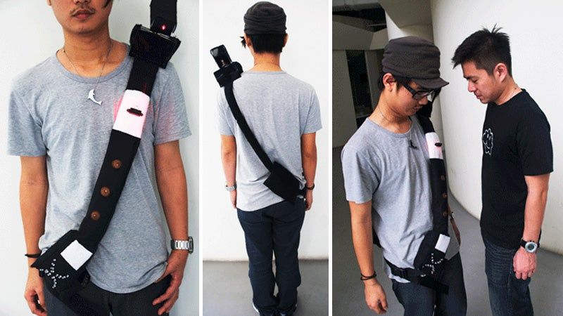 Ridiculous Shoulder Mounted Laser Protects Your Personal Space