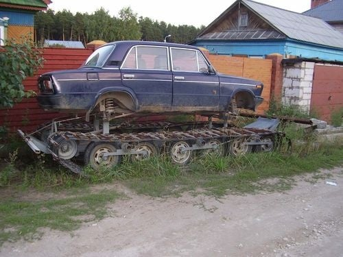 Tracked Lada