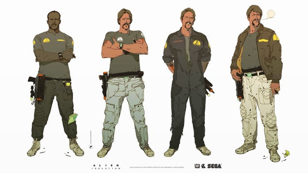 Alien: Isolation's Character Art Is Just The Best