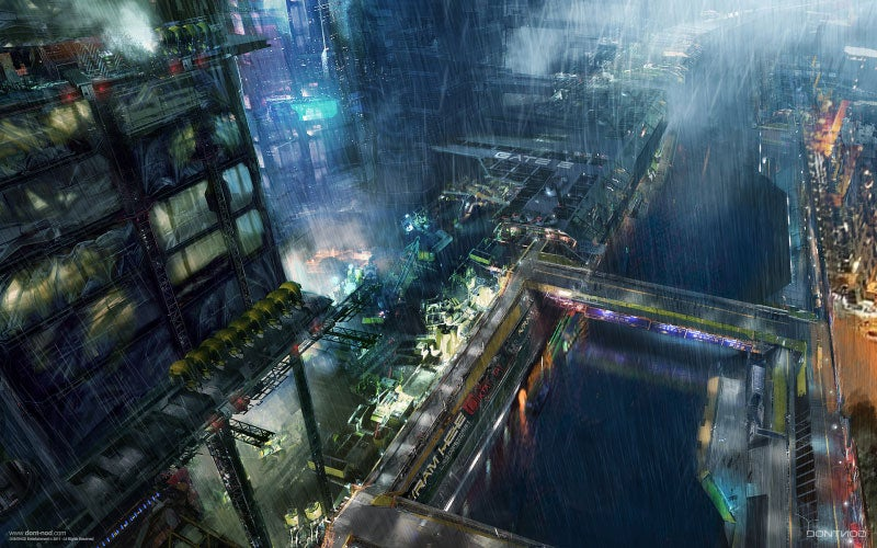 Amazing Concept Art of a Blade Runner-ified Paris
