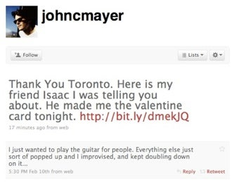 John Mayer Is Back Online, Still A Jerk