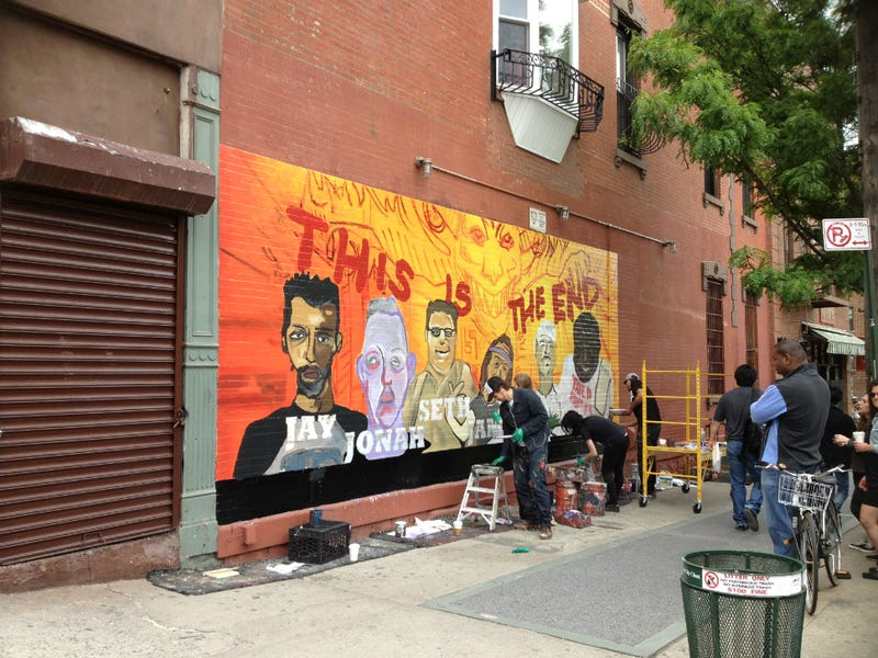 James Franco Painted a Mural in Williamsburg Today