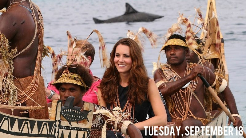 Kate Middleton Got Giggly As She Greeted Topless Islanders