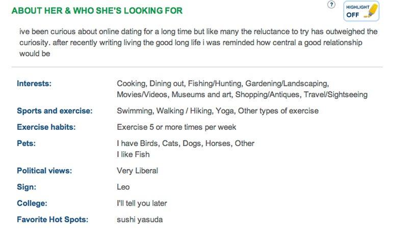 Here's Martha Stewart's Spanking New Match.com Profile