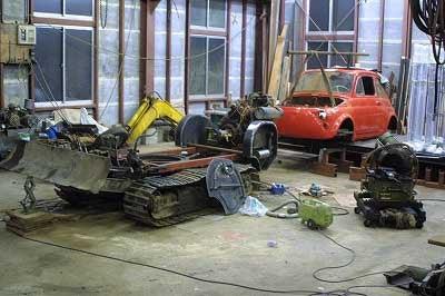 Japanese Ironsmith Creates Bulldozer Out Of Fiat 500