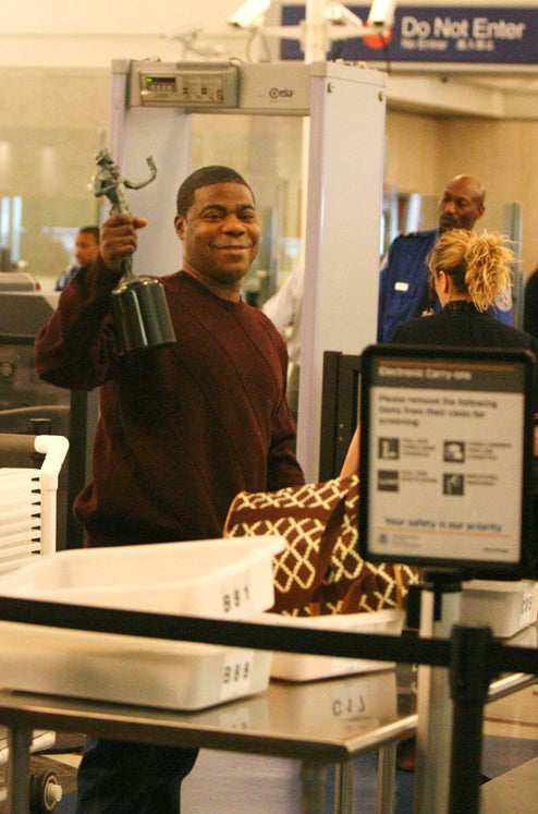 Tracy Morgan Empties His Pockets At Security